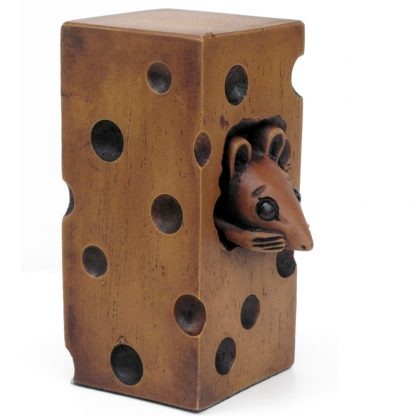 Cheeky Mouse In Chees Figure