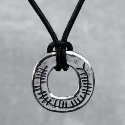 Solid Pewter Celtic Blessings Pendant: