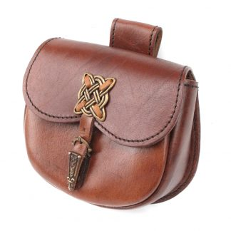 Celtic Leather Belt Bag,