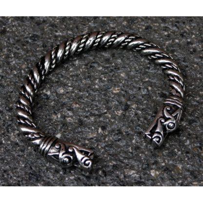Large Viking Dragon Headed Bracelet.