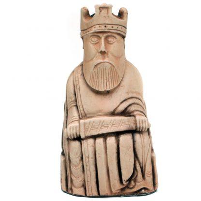Lewis Chess Piece: Ivory Finish King