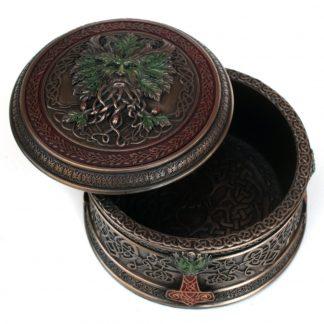 Treasures Of The Oak Trinket Box: Green Man