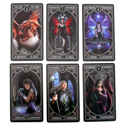 Gothic Tarot Cards. Designed by Anne Stokes