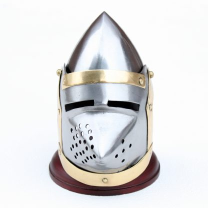 "Miniature ""Pigface Bascinet"" Knights Helmet:"