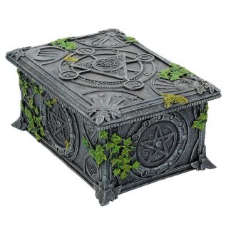 Tarot Card Box With Wiccan Pentagram