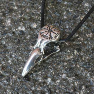 The Raven Skull Pendant: