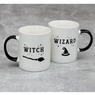 Witch And Wizard Mug Set.