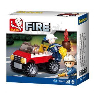 Sluban Bricks: Mini Fire Truck/Jeep