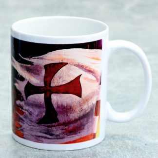 Knights Templar Mug : Cross and Templar Charge Scene: