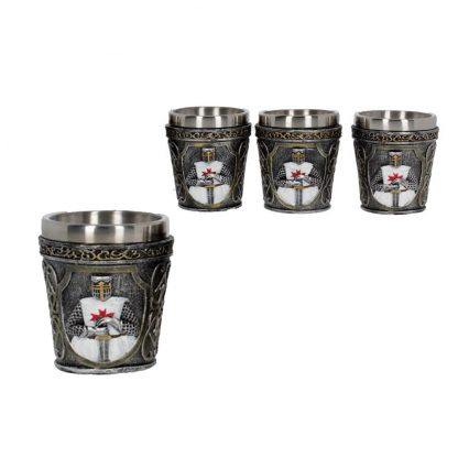 Set Of Knights Templar Shot Glasses