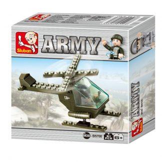 Sluban Bricks: Army Helicopter