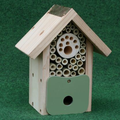 """""""The Bee Barn"""" Nesting for solitary bees."""