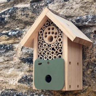 """The Bee Barn"" Nesting for solitary bees."