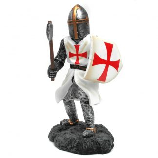 Crusader/Knights Templar Figure with Axe: